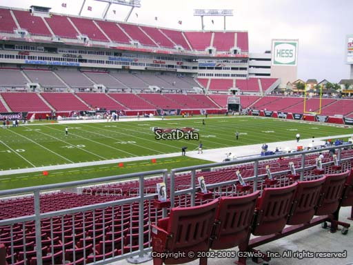 Seat view from section 232 at Raymond James Stadium, home of the Tampa Bay Buccaneers