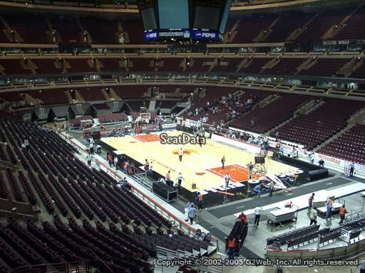 Seat view from section 212 at the United Center, home of the Chicago Bulls
