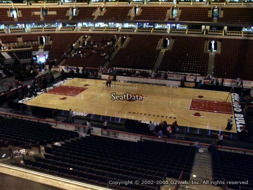 Seat view from section 217 at the United Center, home of the Chicago Bulls