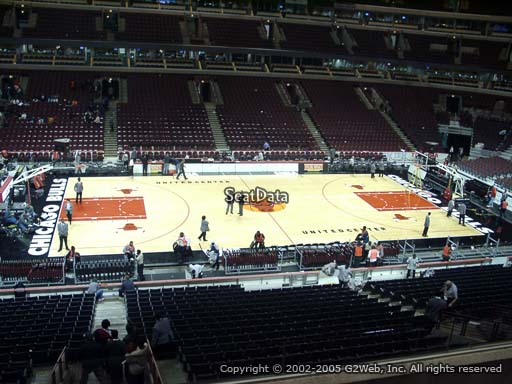Seat view from section 219 at the United Center, home of the Chicago Bulls