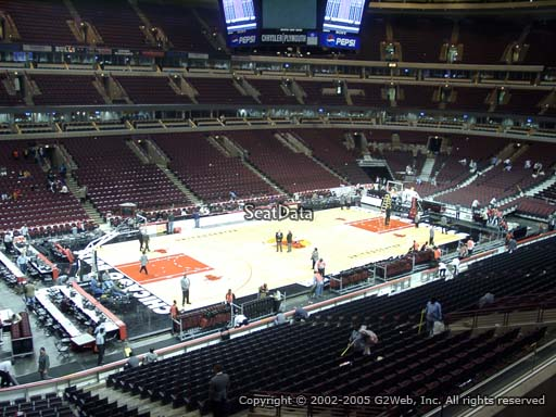 Seat view from section 221 at the United Center, home of the Chicago Bulls