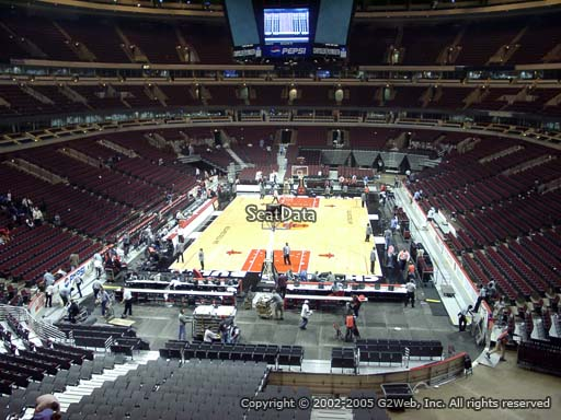 Seat view from section 225 at the United Center, home of the Chicago Bulls