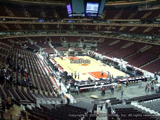 Seat view from section 228 at the United Center, home of the Chicago Bulls