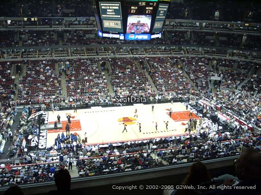 Seat view from section 301 at the United Center, home of the Chicago Bulls