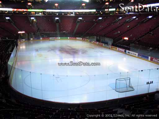 Seat view from section 108 at the Bell Centre, home of the Montreal Canadiens