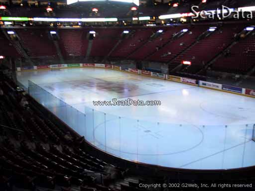 Seat view from section 109 at the Bell Centre, home of the Montreal Canadiens