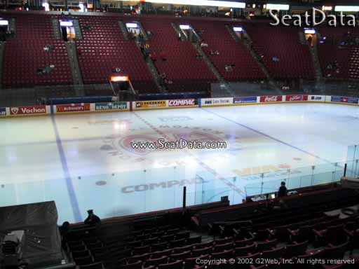 Seat view from section 114 at the Bell Centre, home of the Montreal Canadiens