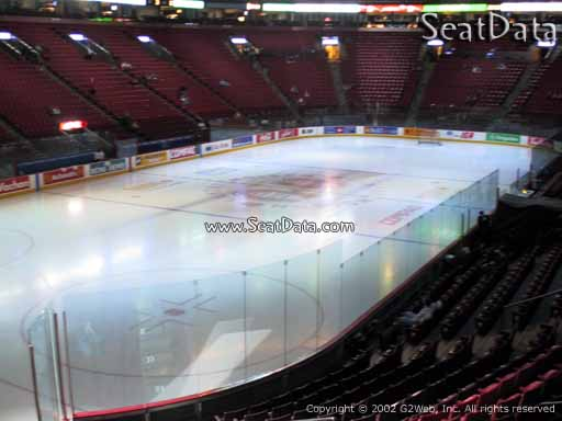 Seat view from section 117 at the Bell Centre, home of the Montreal Canadiens