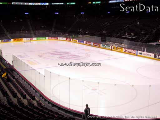 Seat view from section 121 at the Bell Centre, home of the Montreal Canadiens
