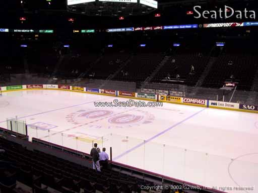 Seat view from section 123 at the Bell Centre, home of the Montreal Canadiens