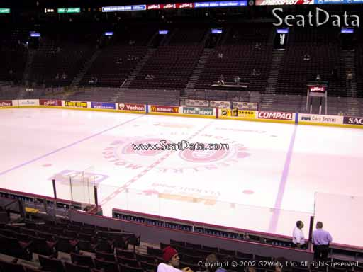 Seat view from section 124 at the Bell Centre, home of the Montreal Canadiens