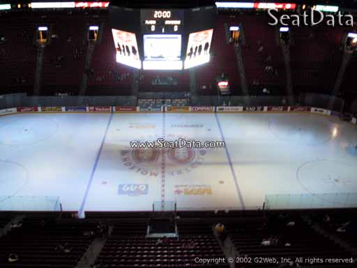 Seat view from section 301 at the Bell Centre, home of the Montreal Canadiens