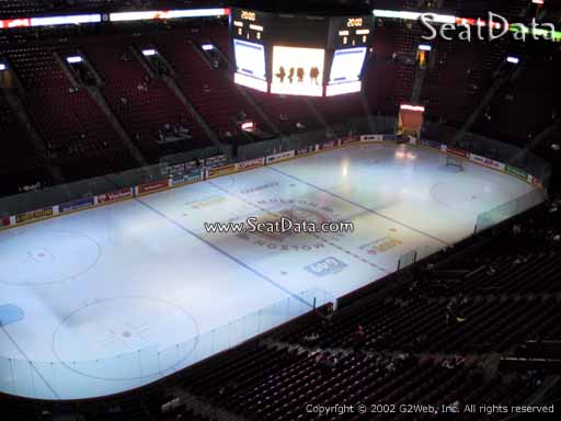 Seat view from section 305 at the Bell Centre, home of the Montreal Canadiens
