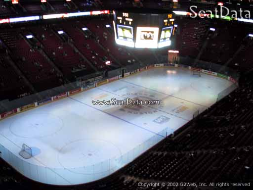 Seat view from section 306 at the Bell Centre, home of the Montreal Canadiens