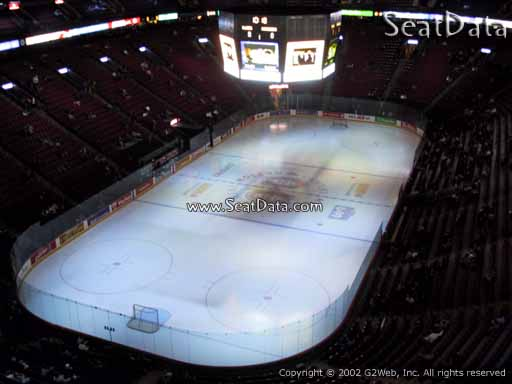 Seat view from section 308 at the Bell Centre, home of the Montreal Canadiens