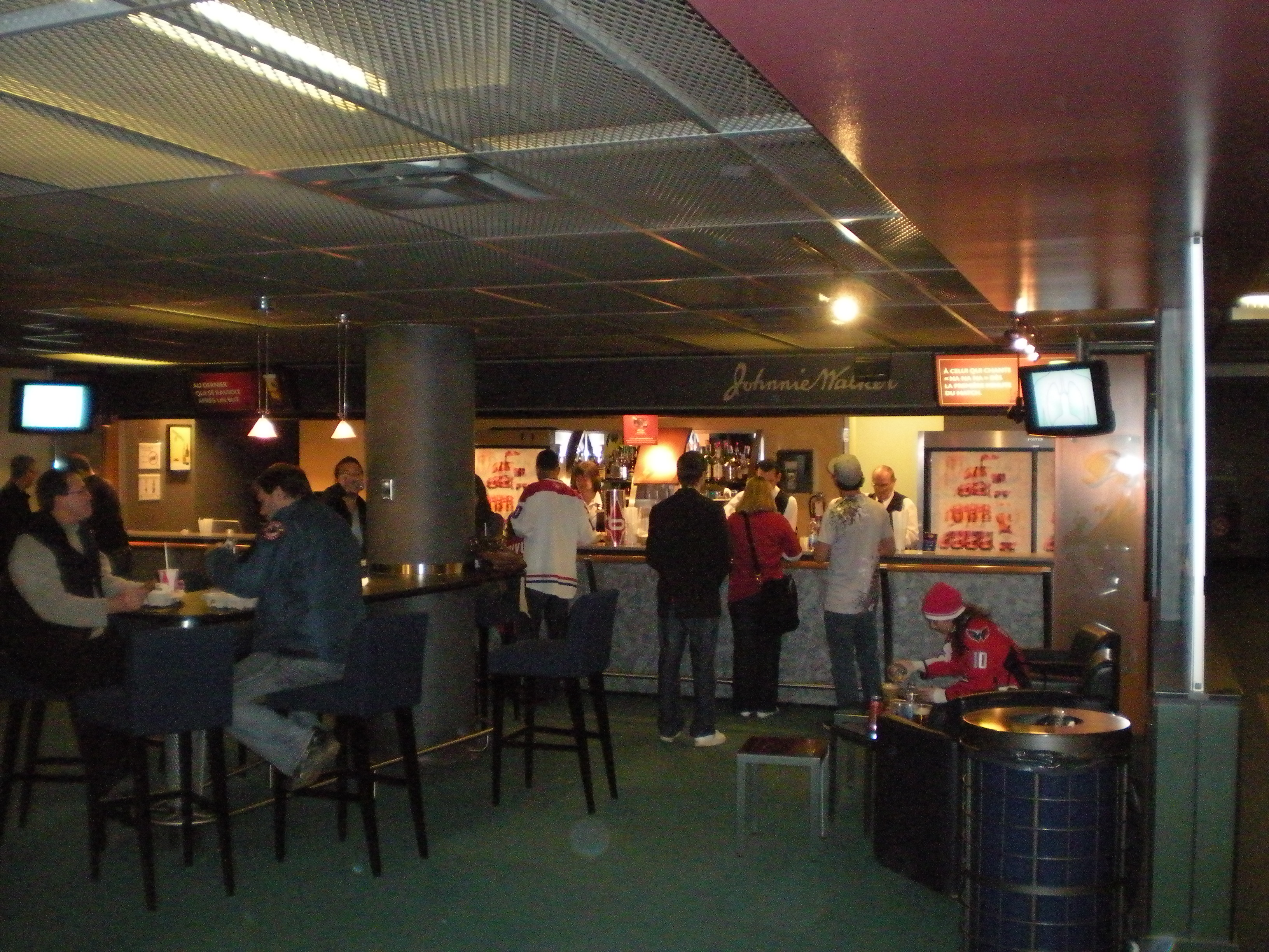 View of the inside of the Desjardins Club at Bell Centre