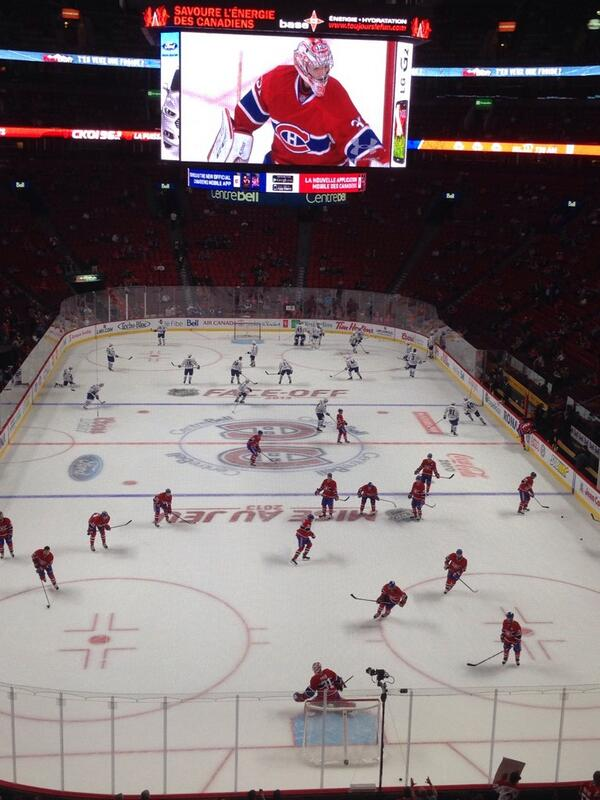 View from the Club Desjardins Seats at Bell Centre