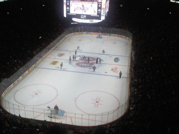 View from the Molson Canadian Zone at Bell Centre