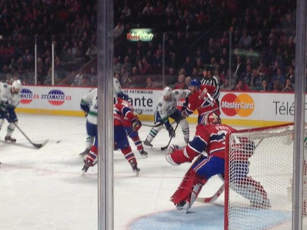 View from the Prestige Seats at Bell Centre