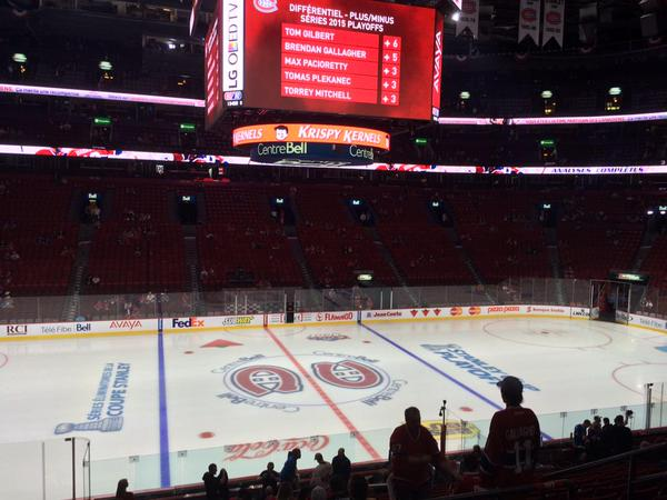 View from the Rouge Seats at Bell Centre