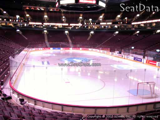 Seat view from section 101 at Rogers Arena, home of the Vancouver Canucks