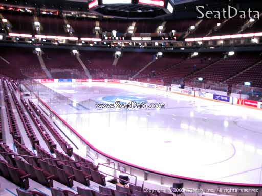 Seat view from section 102 at Rogers Arena, home of the Vancouver Canucks