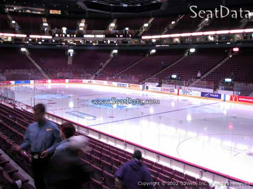 Seat view from section 104 at Rogers Arena, home of the Vancouver Canucks