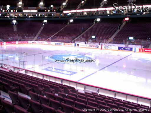Seat view from section 105 at Rogers Arena, home of the Vancouver Canucks