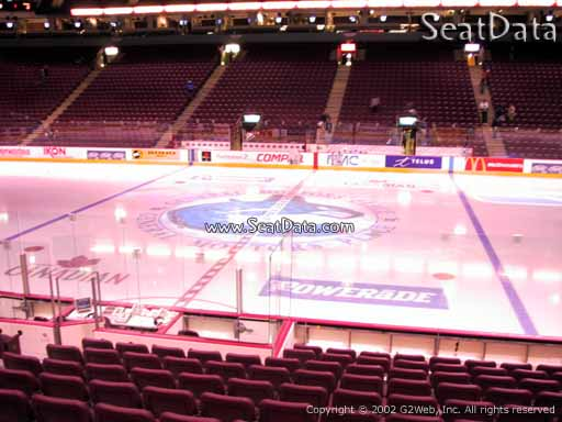 Seat view from section 106 at Rogers Arena, home of the Vancouver Canucks