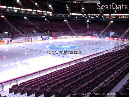 Seat view from section 109 at Rogers Arena, home of the Vancouver Canucks