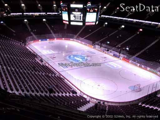 Seat view from section 303 at Rogers Arena, home of the Vancouver Canucks