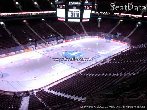 Seat view from section 311 at Rogers Arena, home of the Vancouver Canucks