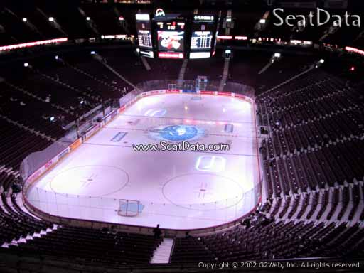 Seat view from section 314 at Rogers Arena, home of the Vancouver Canucks