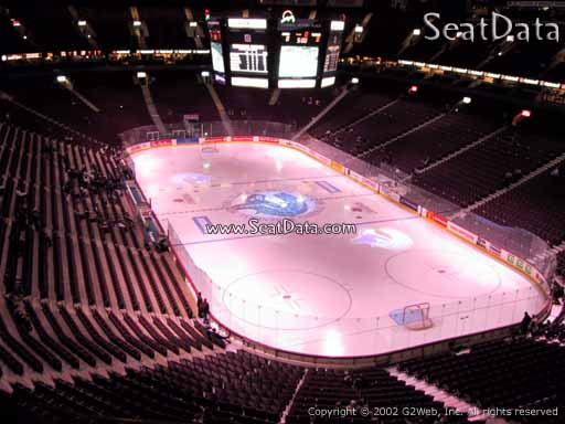 Seat view from section 317 at Rogers Arena, home of the Vancouver Canucks