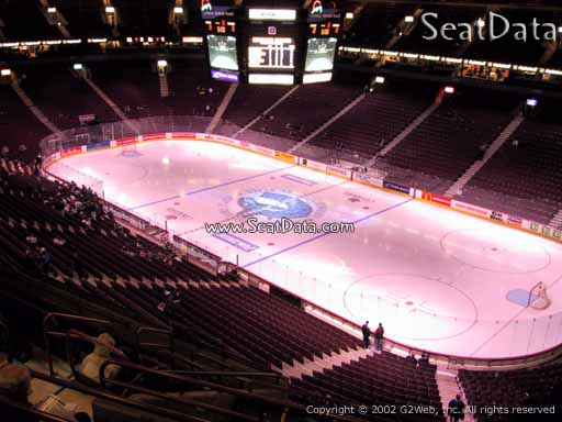 Seat view from section 319 at Rogers Arena, home of the Vancouver Canucks