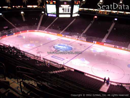 Seat view from section 320 at Rogers Arena, home of the Vancouver Canucks