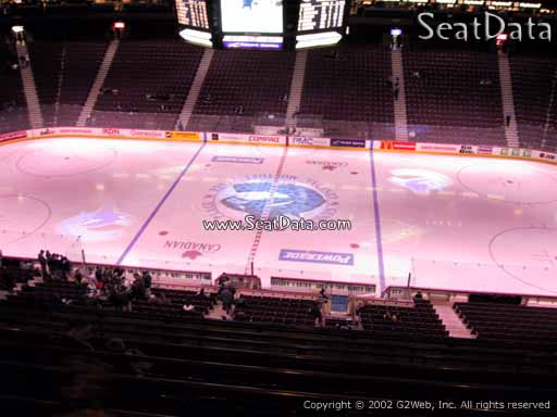 Seat view from section 322 at Rogers Arena, home of the Vancouver Canucks