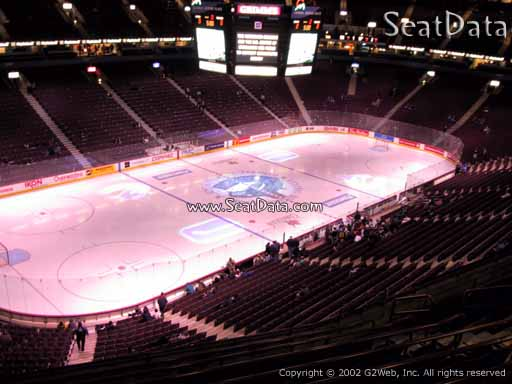 Seat view from section 326 at Rogers Arena, home of the Vancouver Canucks