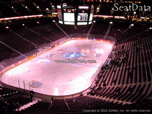 Seat view from section 328 at Rogers Arena, home of the Vancouver Canucks