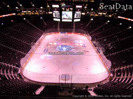 Seat view from section 330 at Rogers Arena, home of the Vancouver Canucks