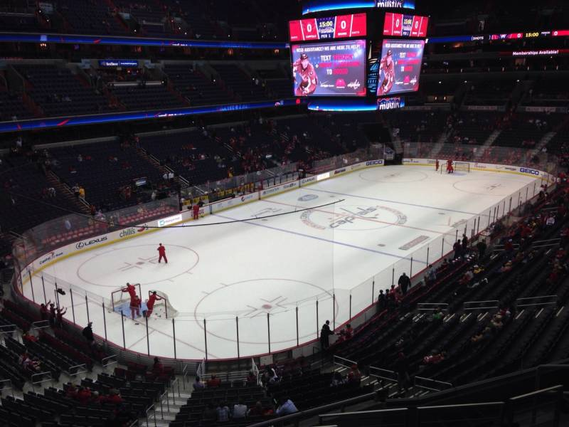 Seat view from section 210 at Capital One Arena, home of the Washington Capitals