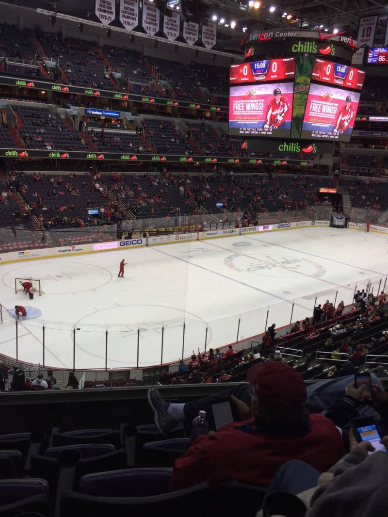 Seat view from section 212 at Capital One Arena, home of the Washington Capitals