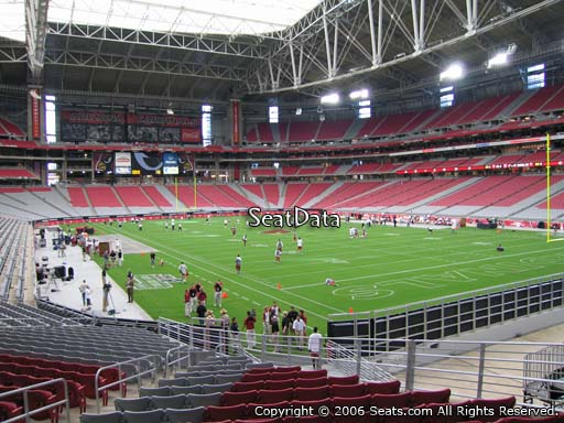 Seat view from section 101 at University of Phoenix Stadium, home of the Arizona Cardinals