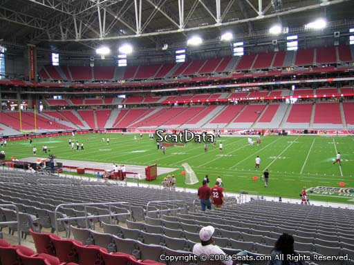 Seat view from section 105 at University of Phoenix Stadium, home of the Arizona Cardinals