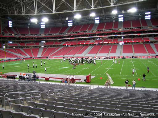 View from section 106 at University of Phoenix Stadium, home of the Arizona Cardinals