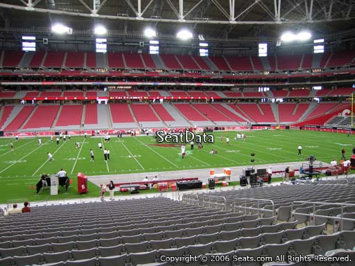 View from section 110 at University of Phoenix Stadium, home of the Arizona Cardinals