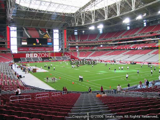 View from section 123 at State Farm Stadium, home of the Arizona Cardinals