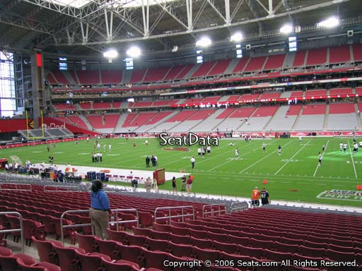 View from section 126 at University of Phoenix Stadium, home of the Arizona Cardinals