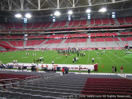 View from section 128 at University of Phoenix Stadium, home of the Arizona Cardinals