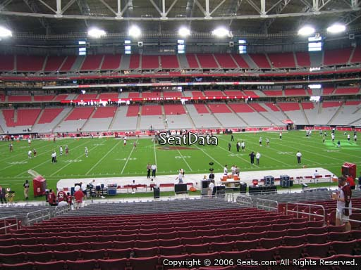 View from section 130 at University of Phoenix Stadium, home of the Arizona Cardinals